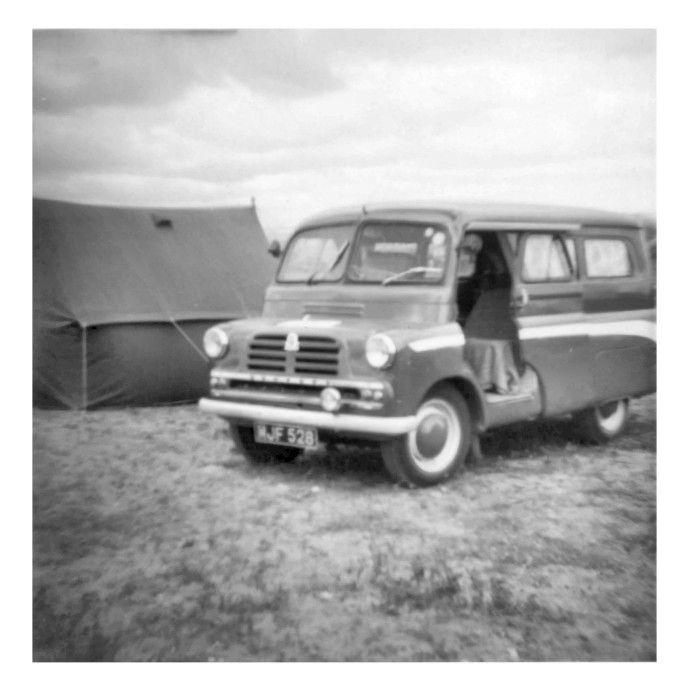Campsite and Dormobile at Nairn (5 July 1965)