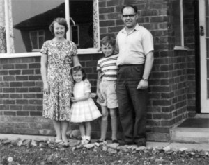Betty, Janis, Roy and Dennis Manterfield at 56 Denegate Avenue (1960)