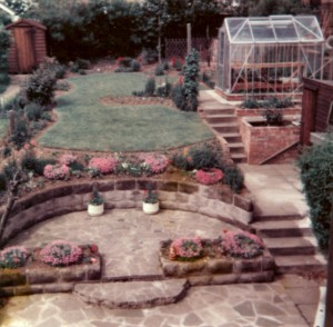 Back garden of 56 Denegate Avenue, Birstall (1975)