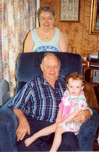 Billie, Allan and Alice Manterfield (30-April-1996)