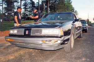 Billie's car at the crash scene (25-April-1996)