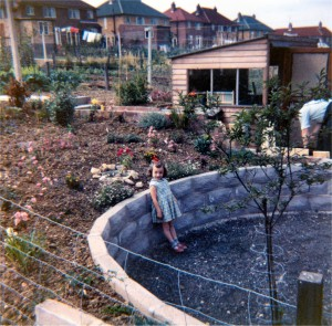 Garden (and Janis) at 56 Denegate Ave (Oct 1961)