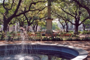 Historic Downtown Savannah (3-May-1996)