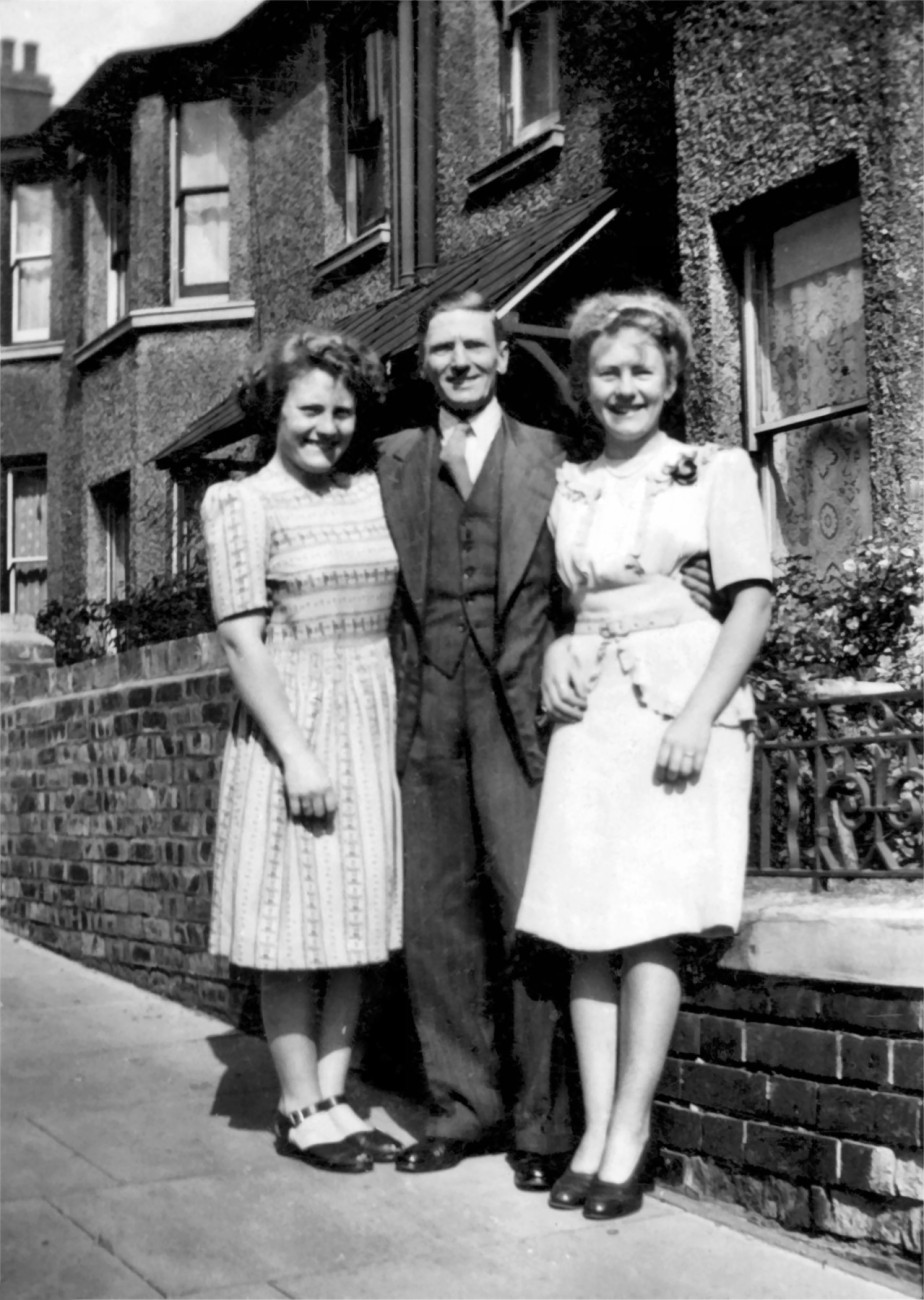 Joyce, Ernest and Betty Swinard (1947)