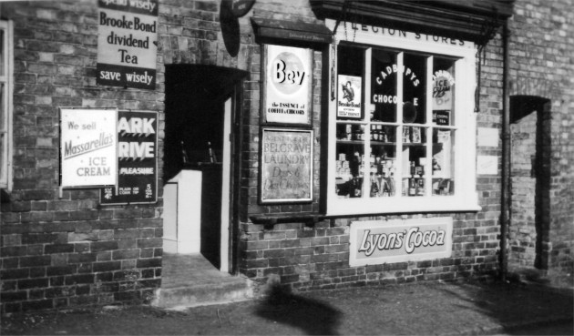 Manterfield's village shop, 13 Front Street, Birstall (c1954)