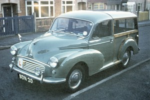 Morris 1000 Traveller; first car I drove (1969)