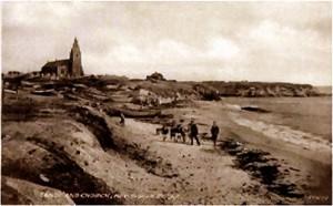 Old postcard of Church Point, Newbiggin