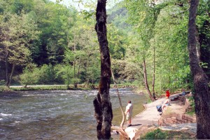 Rafting river, Great Smoky Mountains, North Georgia (8-May-1996)
