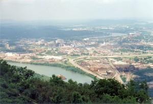 View of Chattanooga from Lookout Mountain (10-May-1996)