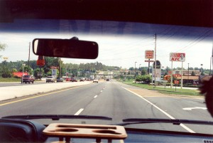 Driving through Oakwood, Georgia (13-May-1996)
