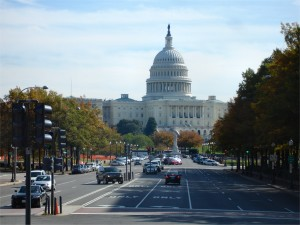 Pennsylvania Avenue and The Capitol, Washington (26 Oct 2009)