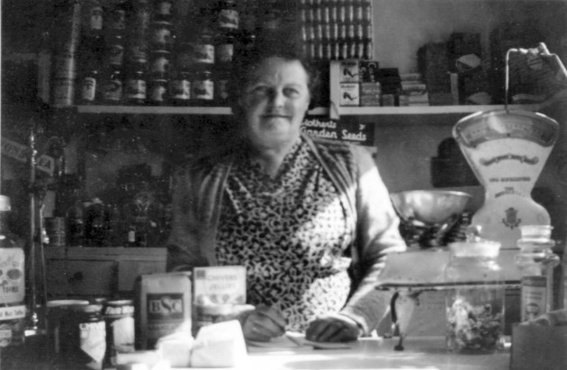 Nellie Manterfield in Legion Stores (c1950)