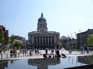 Nottingham's Council House and Old Market Square