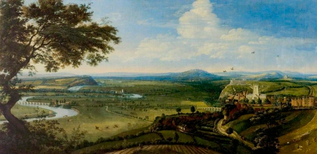 'View of Nottingham from the East' by Jan Siberechts c1695 © Nottingham City Museums and Galleries