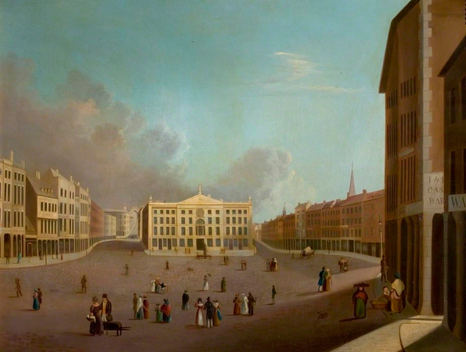 'Nottingham Market Place' by William Goodacre c1827 © Nottingham City Museums and Galleries