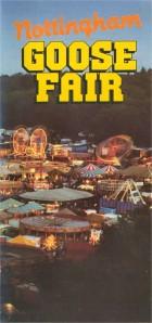 Goose Fair leaflet cover