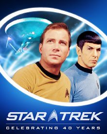 Official 40th Anniversary Star Trek logo. Copyright 2007 Paramount Pictures and CBS Studios Inc.