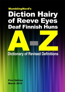Diction Hairy of Redefinitions Cover © 2012 Roy Manterfield