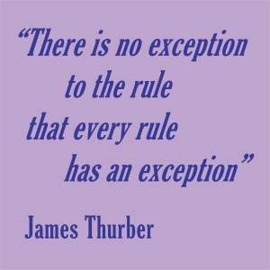 'There is no exception' quote