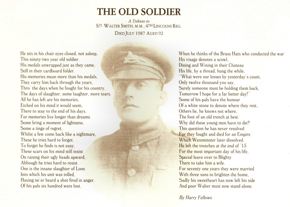 The Old Soldier by Harry Fellows 1987